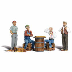 Woodland Scenics A1848 Checker Players HO OO Gauge Figures