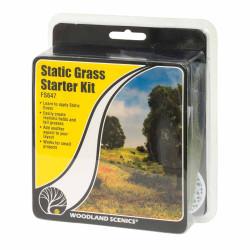 Woodland Scenics FS647 Static Grass Starter Kit Scenic Brush Foliage Flock