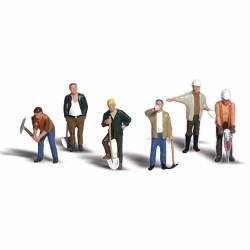 Woodland Scenics A1850 Road Crew HO OO Gauge Figures