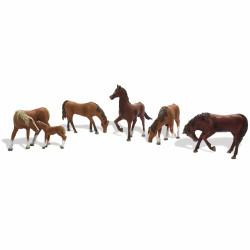 Woodland Scenics A1842 Chestnut Horses HO OO Gauge Figures