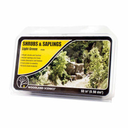 Woodland Scenics F1128 Light Green Shrubs & Saplings Scenic Brush Foliage