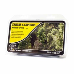 Woodland Scenics F1129 Medium Green Shrubs & Saplings Scenic Brush Foliage