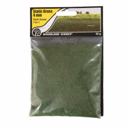 Woodland Scenics FS617 4mm Static Grass Dark Green Scenic Brush Foliage Flock