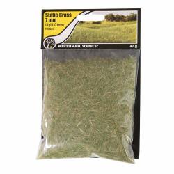 Woodland Scenics FS623 7mm Static Grass Light Green Scenic Brush Foliage Flock