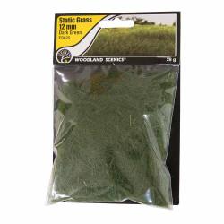 Woodland Scenics FS625 12mm Static Grass Dark Green Scenic Brush Foliage Flock
