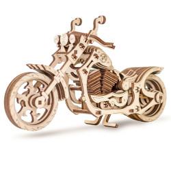 Eco Wood Art - Motorbike Mechanical Wooden Model Kit No Glue Required