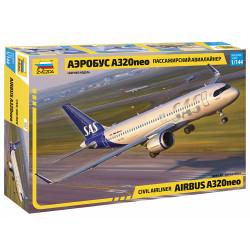 Zvezda 7037 Airbus A-320 Neo 1:144 Plastic Model Aircraft Kit
