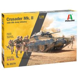 Italeri 6579 Crusader MKII with 8th Army 1:35 Plastic Model Kit