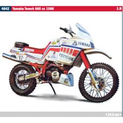 Italeri 4642 Yamaha Tenere 660Cc 1986 Paris Dakar Version 1:9 Plastic Bike Model Kit