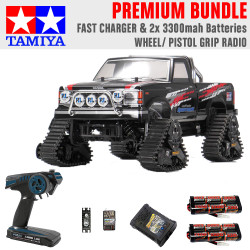 Tamiya RC 58690 Landfreeder Quadtrack (TT-02FT) 1:10 Premium Wheel Radio Bundle