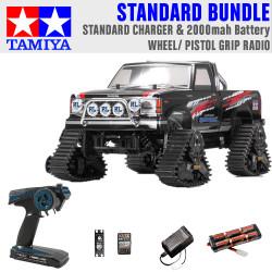 Tamiya RC 58690 Landfreeder Quadtrack (TT-02FT) 1:10 Standard Wheel Radio Bundle