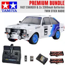Tamiya RC 58687 Ford Escort MK.II Rally PB 1:10 Premium Stick Radio Bundle
