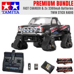 Tamiya RC 58690 Landfreeder Quadtrack (TT-02FT) 1:10 Premium Stick Radio Bundle