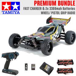Tamiya RC 47454 Plasma Edge II TT-02B 1:10 Premium Wheel Radio Bundle