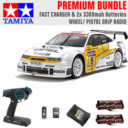 Tamiya RC 47461 Opel Calibra V6 (TA02) 1:10 Premium Wheel Radio Bundle