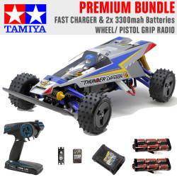 Tamiya RC 47458 Thunder Dragon (2021)1:10 Premium Wheel Radio Bundle