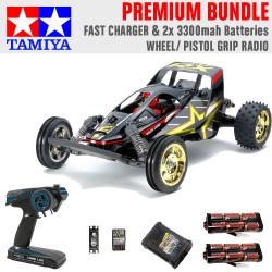 Tamiya RC 47460 Fighter Buggy RX Memorial 1:10 Premium Wheel Radio Bundle