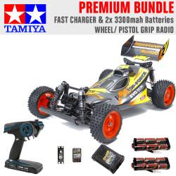 Tamiya RC 47470 Top Force Evo. 1:10 Premium Wheel Radio Bundle