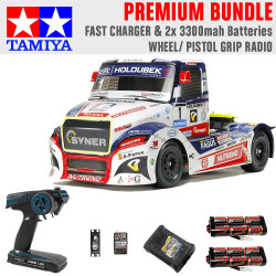Tamiya RC 58661 Buggyra Fat Fox Racing Truck 1:14 Premium Wheel Radio Bundle