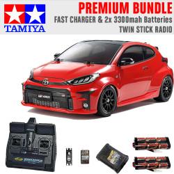 Tamiya RC 58684 Toyota GR Yaris M-05 FWD RC 1:10 Premium Stick Radio Bundle