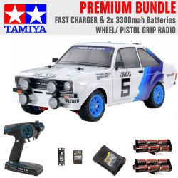 Tamiya RC 58687 Ford Escort MK.II Rally PB 1:10 Premium Wheel Radio Bundle