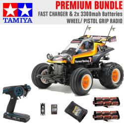 Tamiya RC Comical Hornet (WR-02CB) 58666 1:10 Premium Wheel Radio Bundle