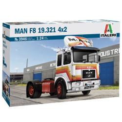Italeri 3946 Man F8 19.321 2 Axle Tractor 1:24 Plastic Model Truck Kit