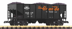 Piko Denver & Rio Grande Western Rib Sided Hopper w/Coal Load PK38917 G Scale