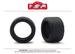 NSR RTR Slick 3/32 Rear for GT3 20x10 Racing 16.9-17.5 Rims NSR5261BLACK 1:32 Scale