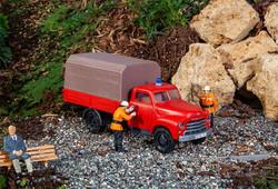 Pola Opel Blitz Fire Vehicle Kit PO331615 G Scale