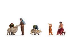 Noch Sheep Shearers (4) Figure Set N15751 HO Scale