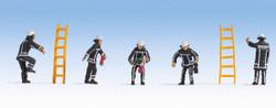Noch Dutch Fireman (5) Figure Set N15024 HO Scale