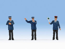 Noch Railway Officials (3) Figure Set N17100 1:32 Scale