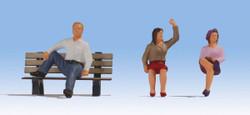 Noch Seated People (3) Figure Set N17151 1:32 Scale