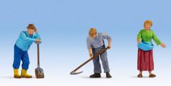 Noch Farmers (3) Figure Set N17840 O Scale