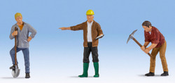 Noch Construction Workers (3) Figure Set N17830 O Scale