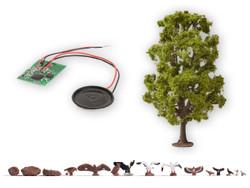 Noch Tree with Tweeting Bird Sound Module N21782