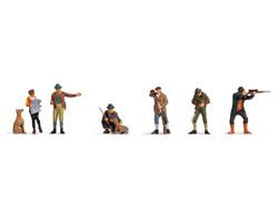 Noch Hunters & Foresters (6) Figure Set N36059 N Scale