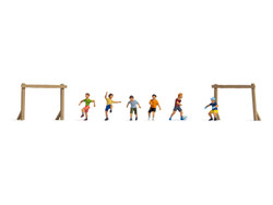 Noch Children Playing Football (6) Figure Set N36817 N Scale