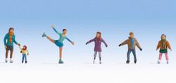 Noch Ice Skaters (6) Figure Set N36824 N Scale