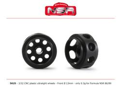 NSR 3/32 CNC Formula NSR Ultralight Front Wheels 13'' Dia. NSR5025 1:32 Scale