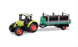 Claas Arion 540 with Wooden Trailer CLA184016 1:32 Scale