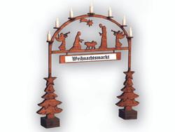 Noch Christmas Market Entry Arch Laser Cut Minis Kit N14681 N Scale