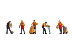 Noch Parcel Carriers (6) Figure Set N15069 HO Scale