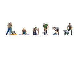 Noch Road Workers (6) Figure Set N15112 HO Scale