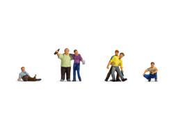 Noch Drunk People (6) Figure Set 15559 HO Scale