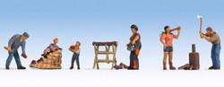 Noch Chopping Wood (5) Figure Set N15616 HO Scale
