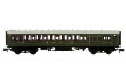 Dapol Maunsell High Window BTK Coach 3730 Lined Olive Green DA2P-014-020 N Scale