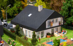Faller Single Family House with Sheet Roofing Kit III FA130642 HO Scale