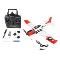 Sonik T28 Trojan 400 - Ready to Fly 4 Channel RC Plane Trainer with Flight Stabilisation
